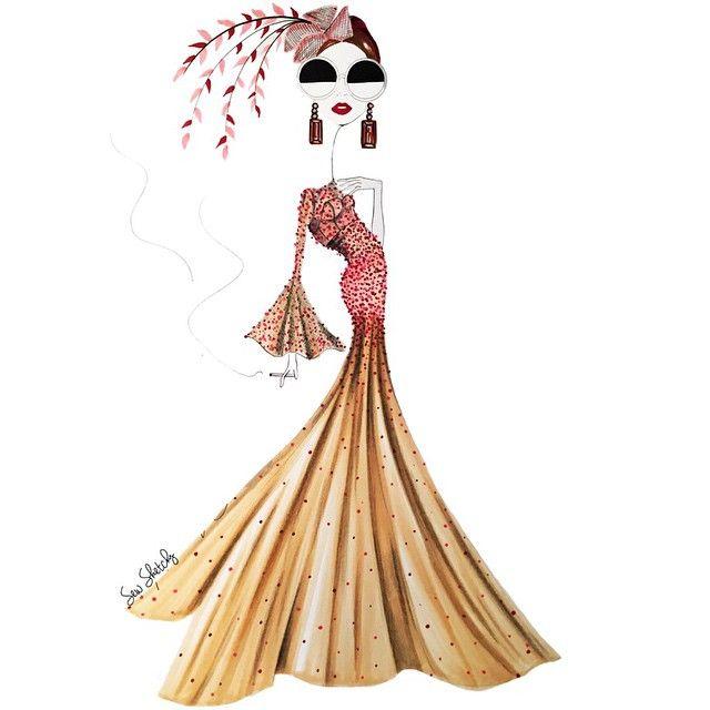 """Get ready to put on your fascinator, clip on your feathers, tie your bows, wear your sparkles, zip in to your gowns. HAUTE COUTURE WEEK STARTS TOMORROW!"""" Sew Sketchy"""