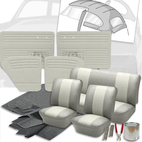 Deluxe 12 Inch Seat Insert Vw Interior Kit Beetle Sedan 1954 1955 En 2020 Vw Vocho Coche Escarabajo Interiores De Vocho