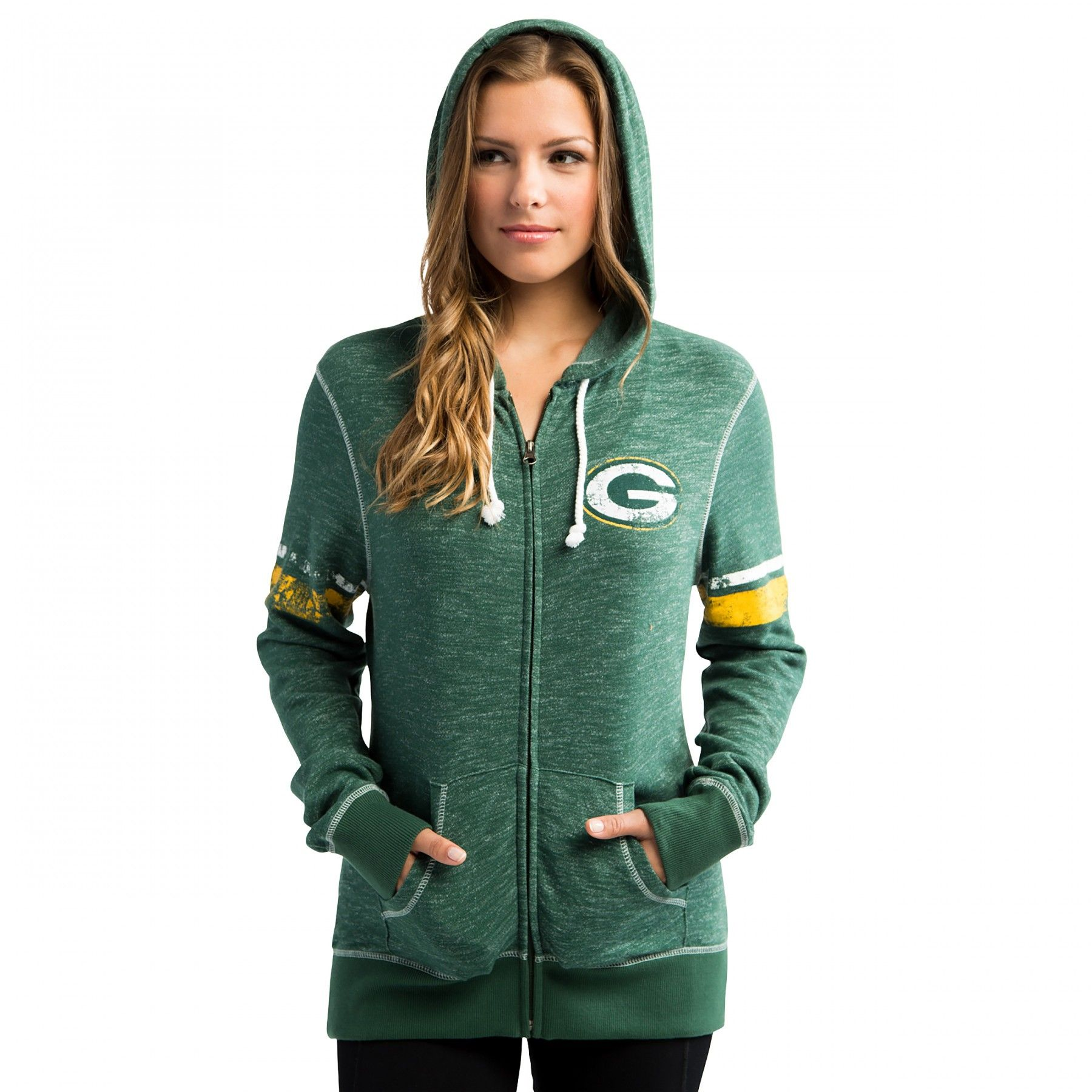 Packers Women 39 S Athletic Tradition Full Zip Hoodie At The Packers Pro Shop Hoodies Hoodies Womens Athletic Women