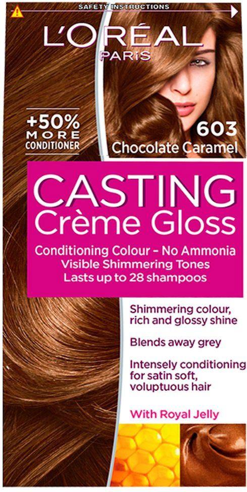 L Oreal Paris Casting Creme Gloss 603 Chocolate Caramel Loreal Casting Creme Gloss Hair Color Reviews Brown Hair Color Shades