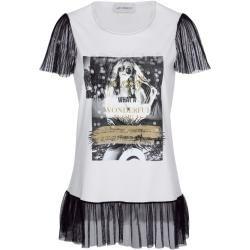 Amy Vermont, Shirt mit Druck und Pailletten im Vorderteil, weiß Amy Vermont