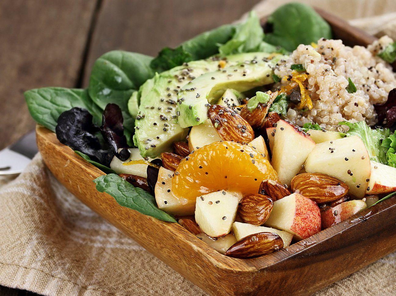 Ballaststoffreiche, fettarme Ernährung