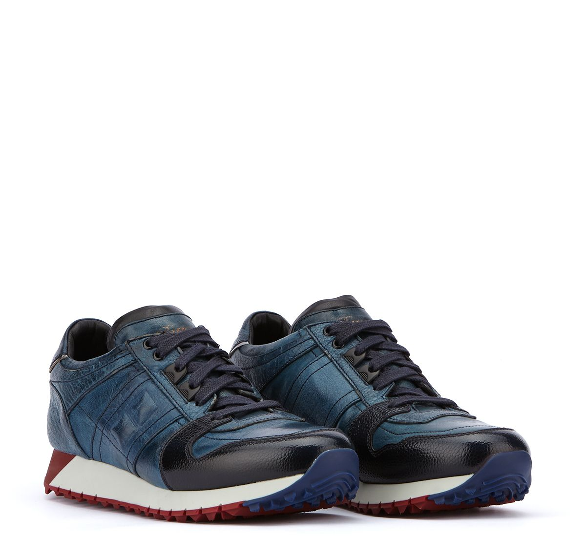 Shoes Sneakers Men Barracuda Blue White Red
