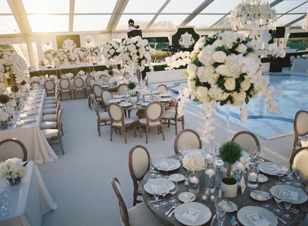 Tented Wedding Carpeted Wedding Floor Louis Chair Wedding In 2020 Large Floral Arrangements Wedding Chairs Tent Wedding