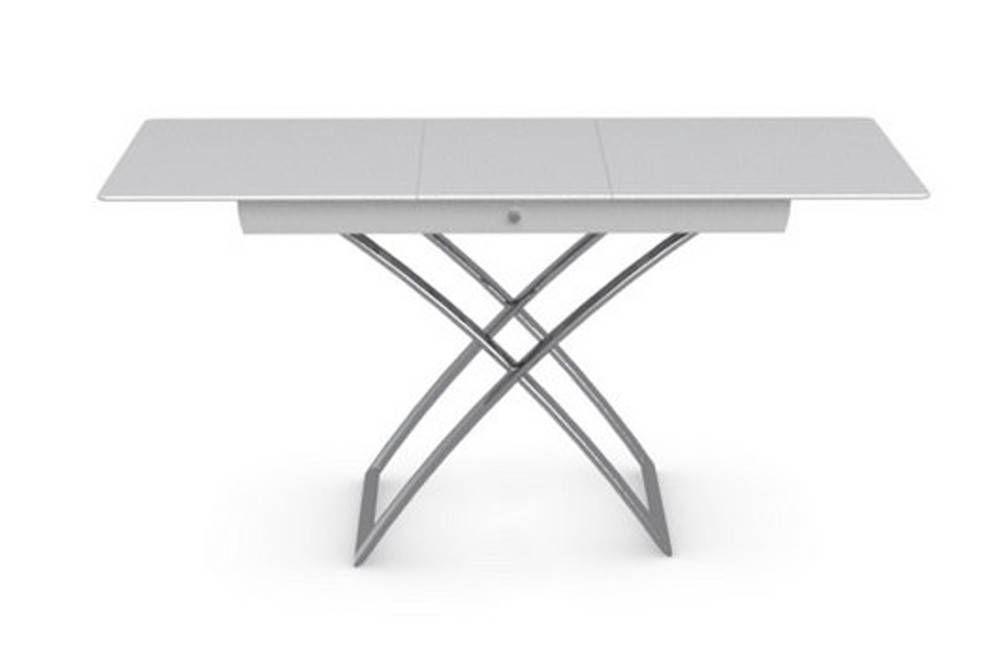 Table Basse Relevable Extensible Italienne Magic J Glass En Verre Extra Blanc Table Basse Relevable Table Basse Table Relevable