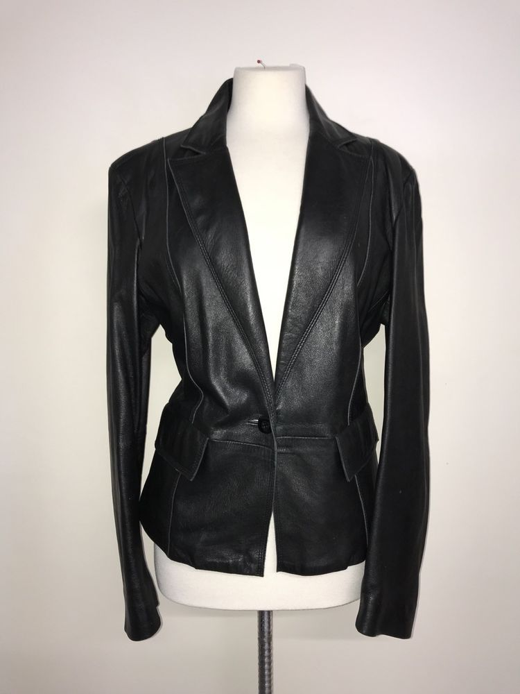 8e047029500 NEXT - Ladies BLACK REAL LEATHER JACKET - Size 18 - GORGEOUS  fashion   clothing  shoes  accessories  womensclothing  coatsjacketsvests  ad (ebay  link)