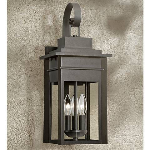 Bransford 19 High Black Specked Gray Outdoor Wall Light 8m881 Lamps Plus Wall Lights Outdoor Wall Light Fixtures Exterior Light Fixtures