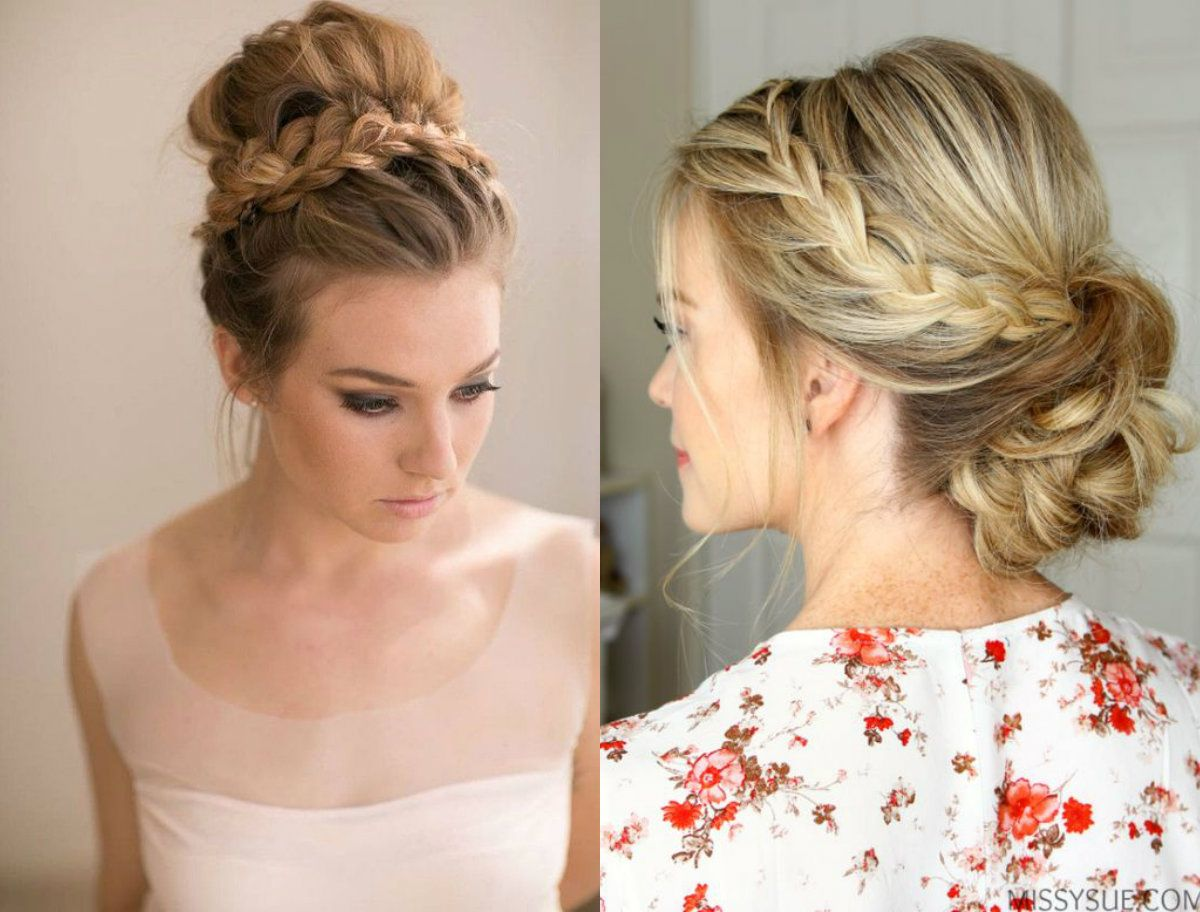 high and low braided bun hairstyles   paintings in 2019