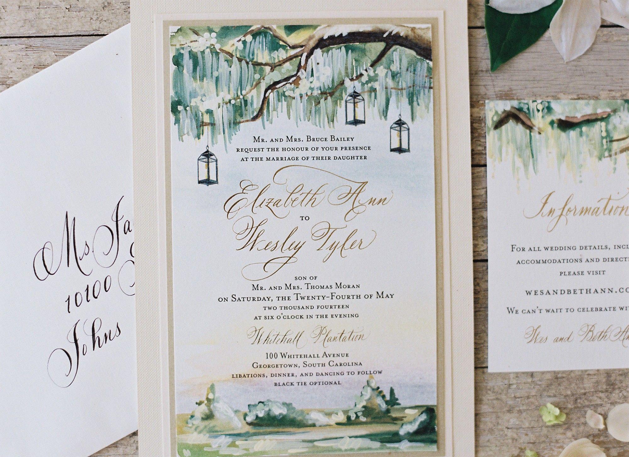 Painted Landscape Wedding Invitations   Wedding Brainstorm ...