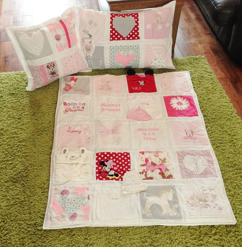 Patchwork Memory Quilts, Pillows, Cushions, Horses, Unicorns ... : quilts made from baby clothes uk - Adamdwight.com