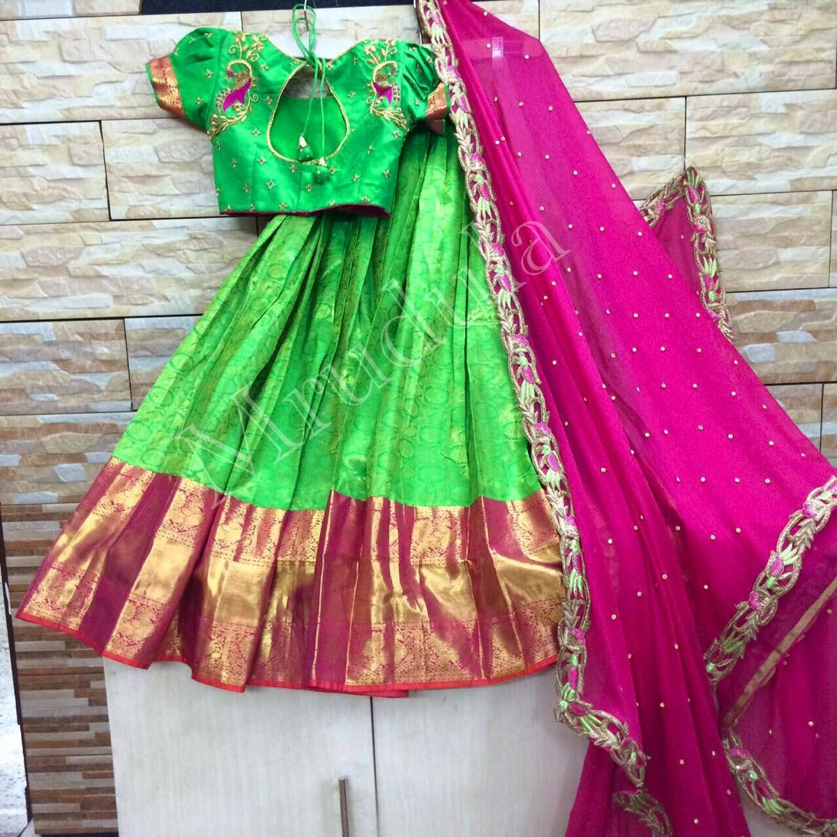 Pin by padmapriya on half sarees pinterest half saree saree and