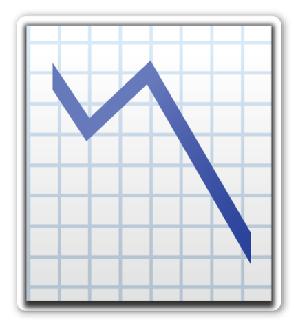 Chart With Downwards Trend Chart Sticker Patches Emoji Stickers