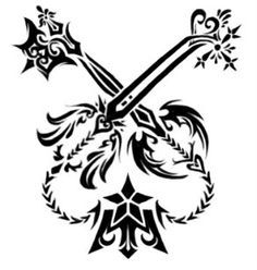 Image Result For Kingdom Hearts Oathkeeper And Oblivion Tattoo