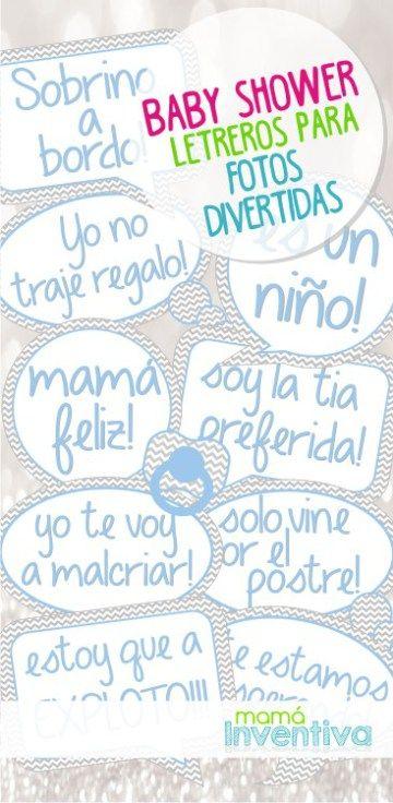 Letreros Para Fotos Divertidas En Tu Baby Shower G Pinterest