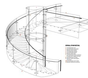 Anna Winston Spiral Staircase Plan Stairs Design Glass Staircase