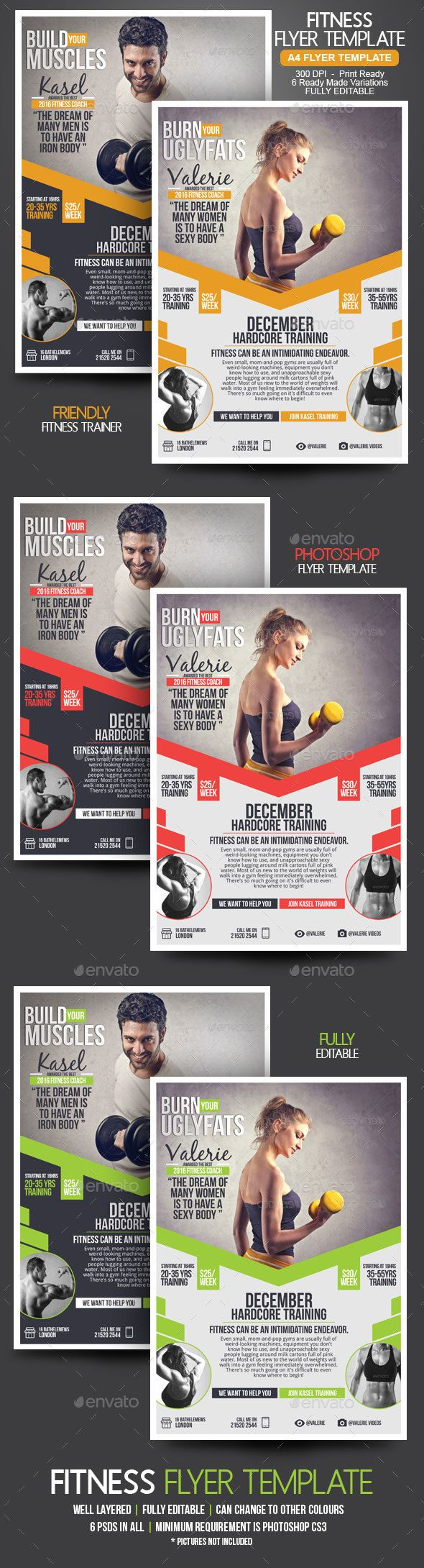Fitness Flyer Pinterest Flyer Template Template And Marketing
