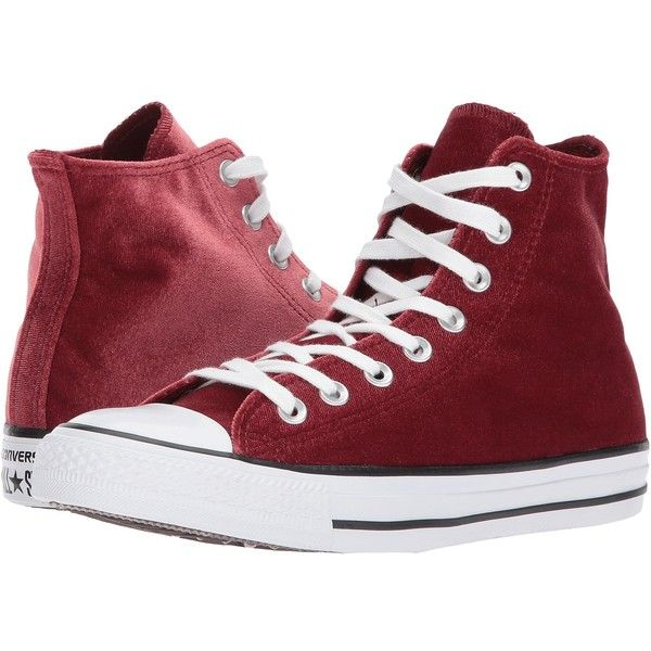 917d6b183430 Converse Chuck Taylor(r) All Star(r) Velvet Hi (Red Block White ...