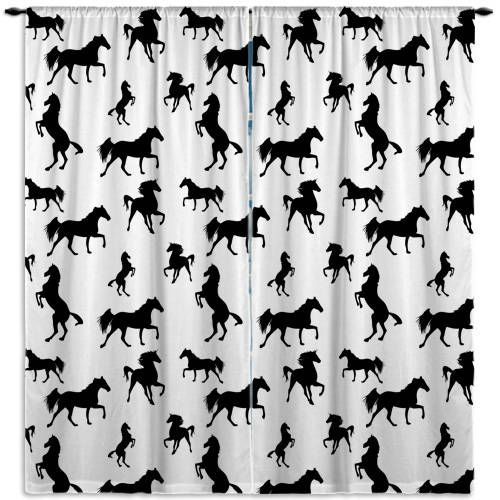 Horse Curtains For Bedroom.Horse Curtains For Bedroom Black And White Curtain Panels