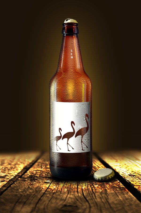 Zen Beer  by Tom-Erik Ruud, via Behance