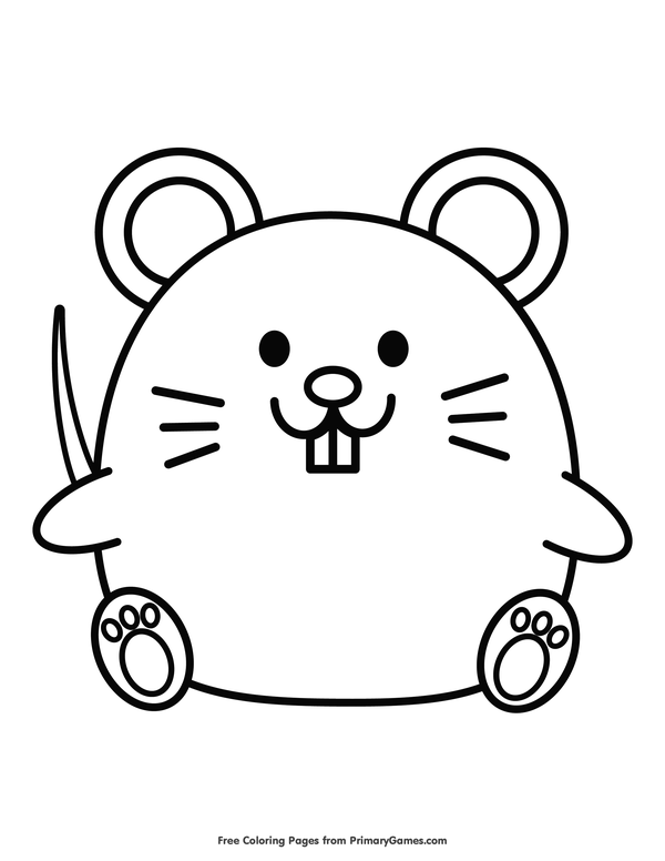 Chinese Zodiac Rat Coloring Page • FREE Printable eBook ...