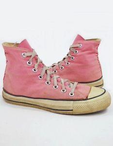 412d38b0b53d 80s Pink Converse High Tops Pastel Authentic Original ...