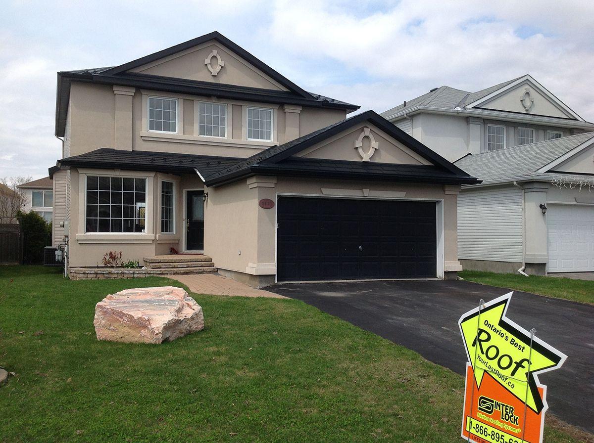Black Interlock Slate Roof Ottawa Ontario Canada Http Interlock Bestroof Com Pinterest Call 1 866 733 5811 Roofing Aluminum Roof Metal Roof