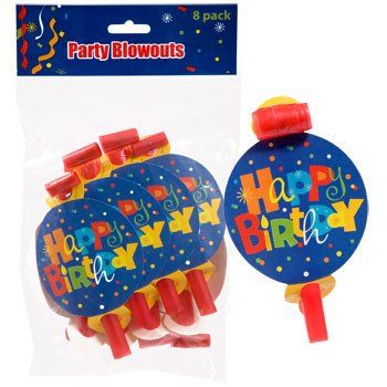 "Whimsy ""Happy Birthday"" Blowouts, 8-ct. Pack"