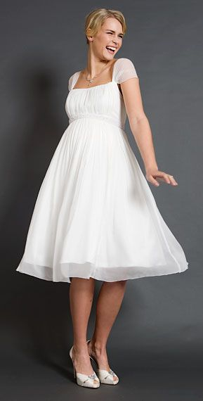 Alya Silk Maternity Wedding Dress (Short)   Mariées Enceintes ...