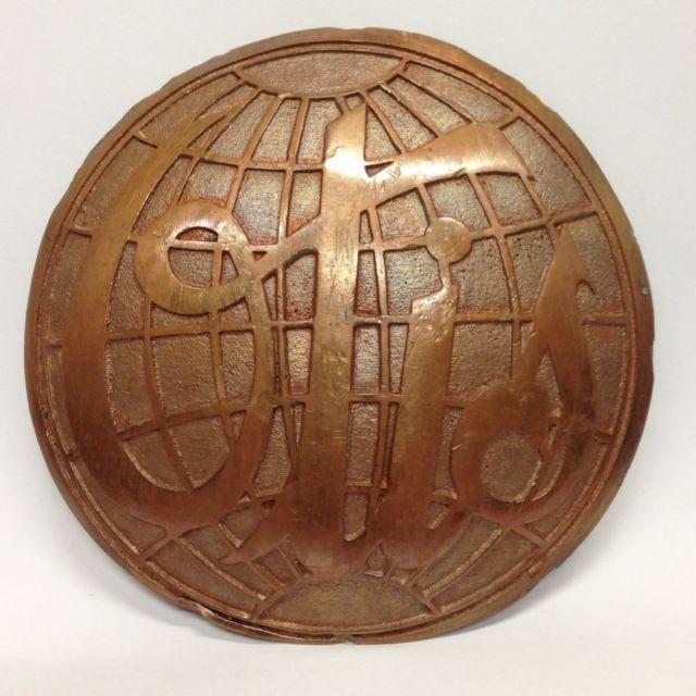 vintage old otis elevator solid brass bronze cast emblem plate 3 vintage old otis elevator solid brass bronze cast emblem plate 3 25 globe design