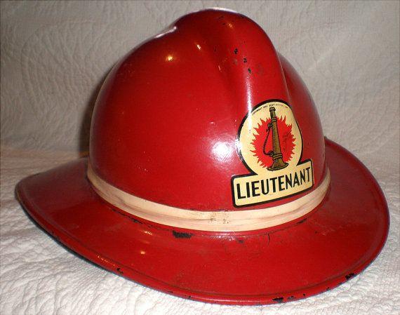 MSA Skullgard Fireman's Helmet Circa 1950's by Buddhagal on