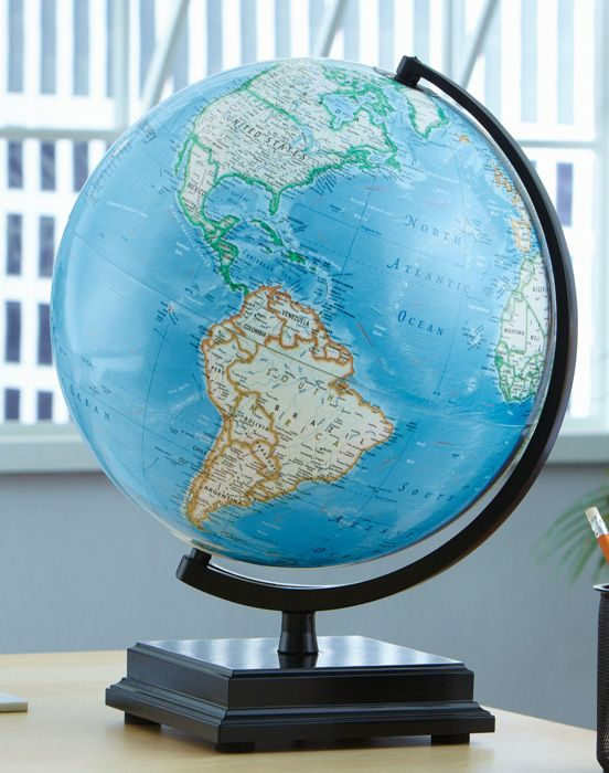 Replogle discovery cambria desktop world globe black lacquer finish replogle discovery cambria desktop world globe black lacquer finish wood base and 12 gumiabroncs Image collections