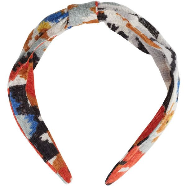 MANGO Bow Printed Hairband (€8,78) ❤ liked on Polyvore featuring accessories, hair accessories, hair bow accessories, headband hair accessories, hair band headband, cotton headbands and bow headwrap