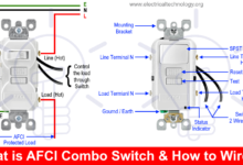 How To Wire An Afci Combo Switch Afci Switch Wiring Diagrams Electronic Engineering Electricity Technology