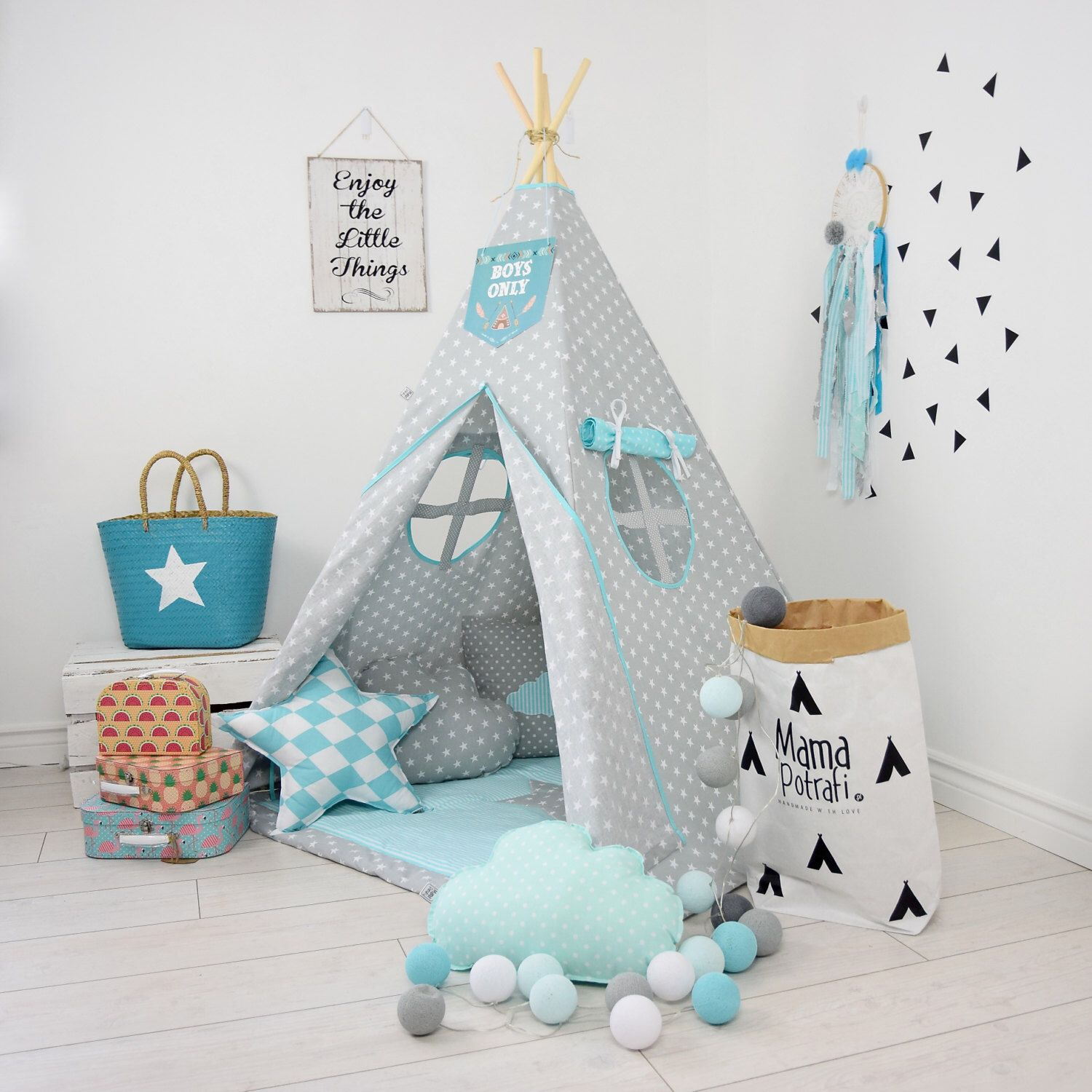 Childrens teepee playtent tipi zelt wigwam kids by MamaPotrafi  sc 1 st  Pinterest & Childrens teepee playtent tipi zelt wigwam kids teepee tent ...