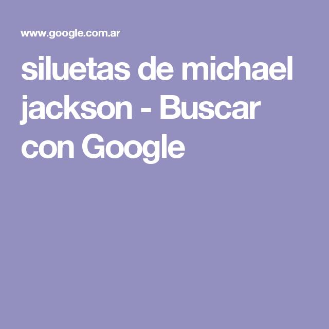 siluetas de michael jackson - Buscar con Google