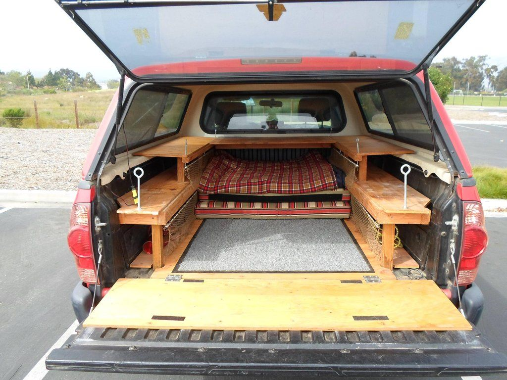 Bigger pic of the DIY truck bed insert for camping under a truck topper. Truck