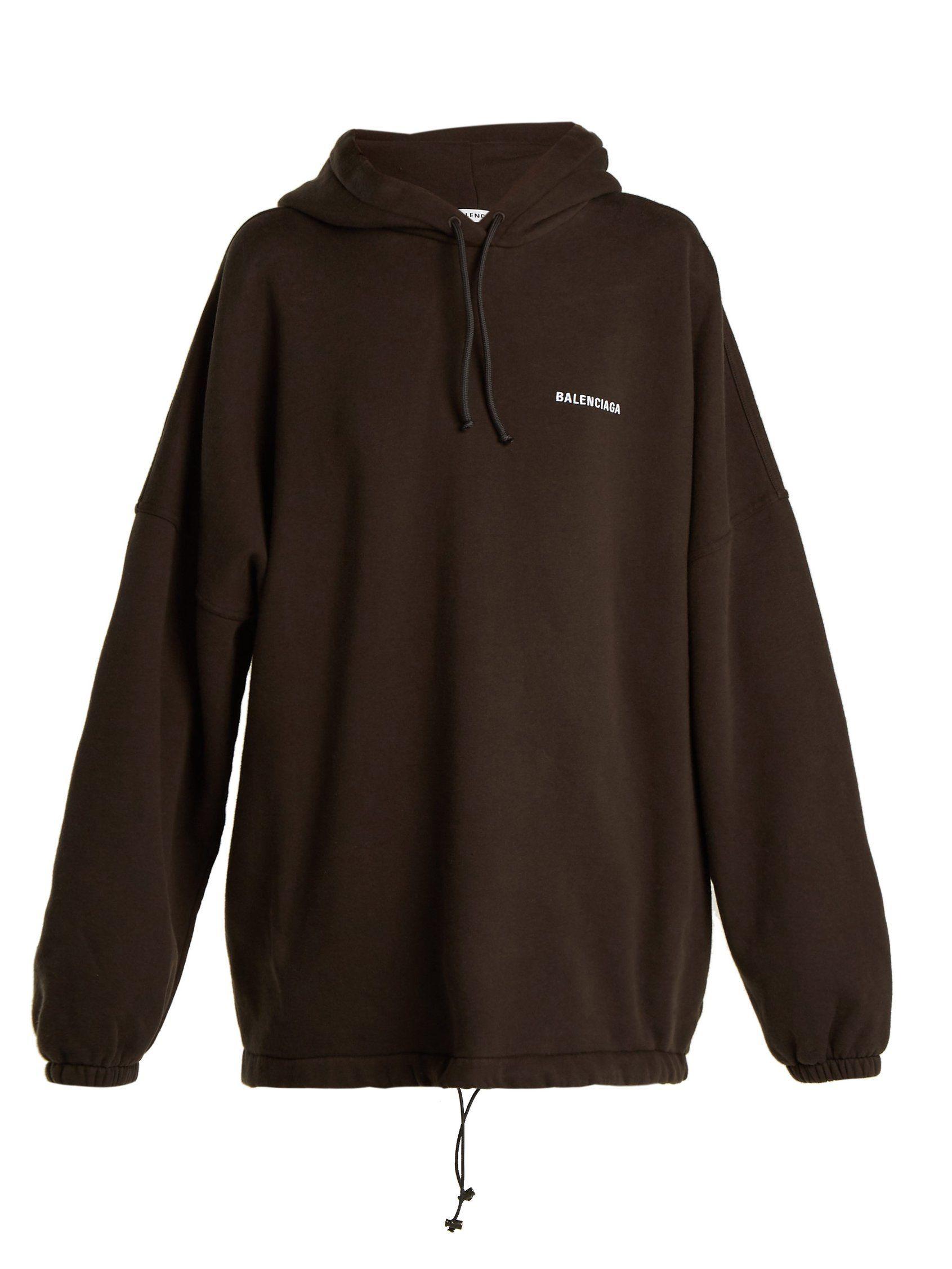 ShopBalenciaga logo hoodie with Express