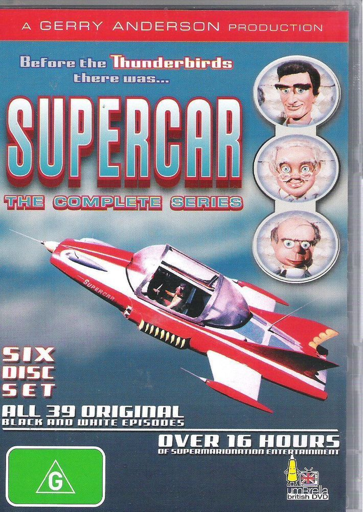 Supercar The Complete Series Gerry Anderson 6dvd Set Brand New Sealed Super Cars Gerry Anderson Kids Shows