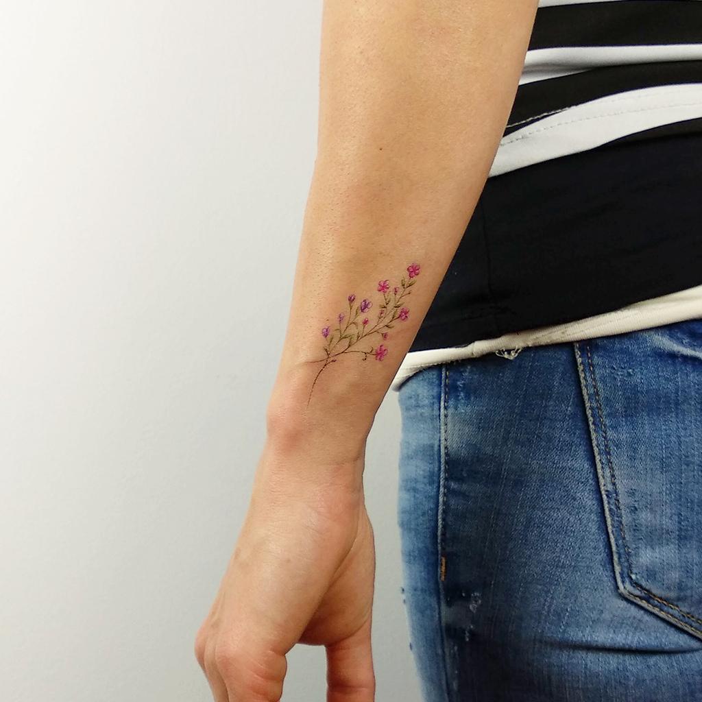 9fa1e1a30 Baby's Breath Temporary Tattoo by Mini Lau (Set of 3) | tattoos ...