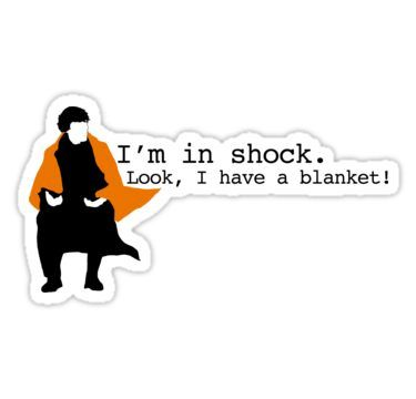 'Sherlock Shock Blanket' Sticker by scarfasaurus