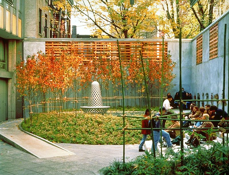 Vera List Courtyard The New School New York Ny Michael Van Valkenburgh Associates Inc Landscape Architecture Modern Landscaping Public Garden
