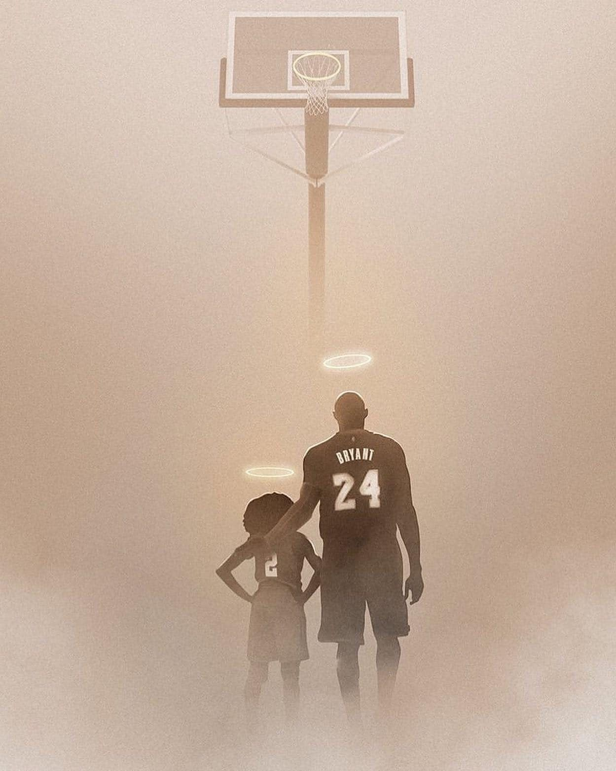 Gigi and Kobe Bryant in 2020 Kobe, Black mamba, Artwork
