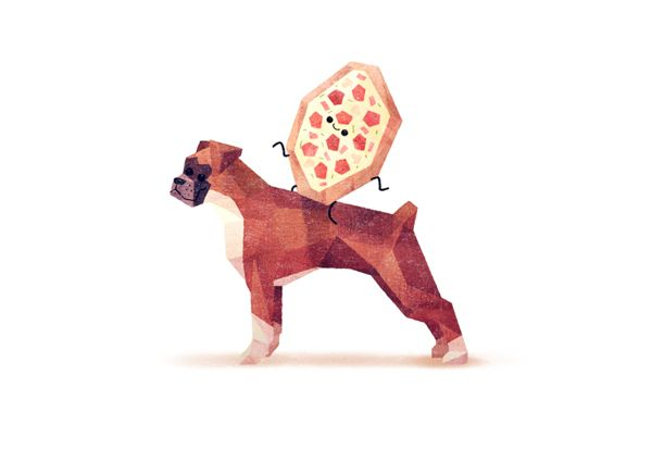 Things on Dogs by Benjamin Flouw, via Behance