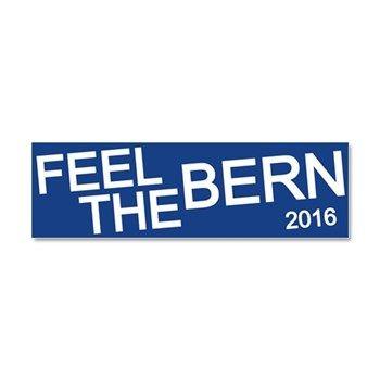 feel the bern car magnet 10 x 3 bernie sanders president 2016