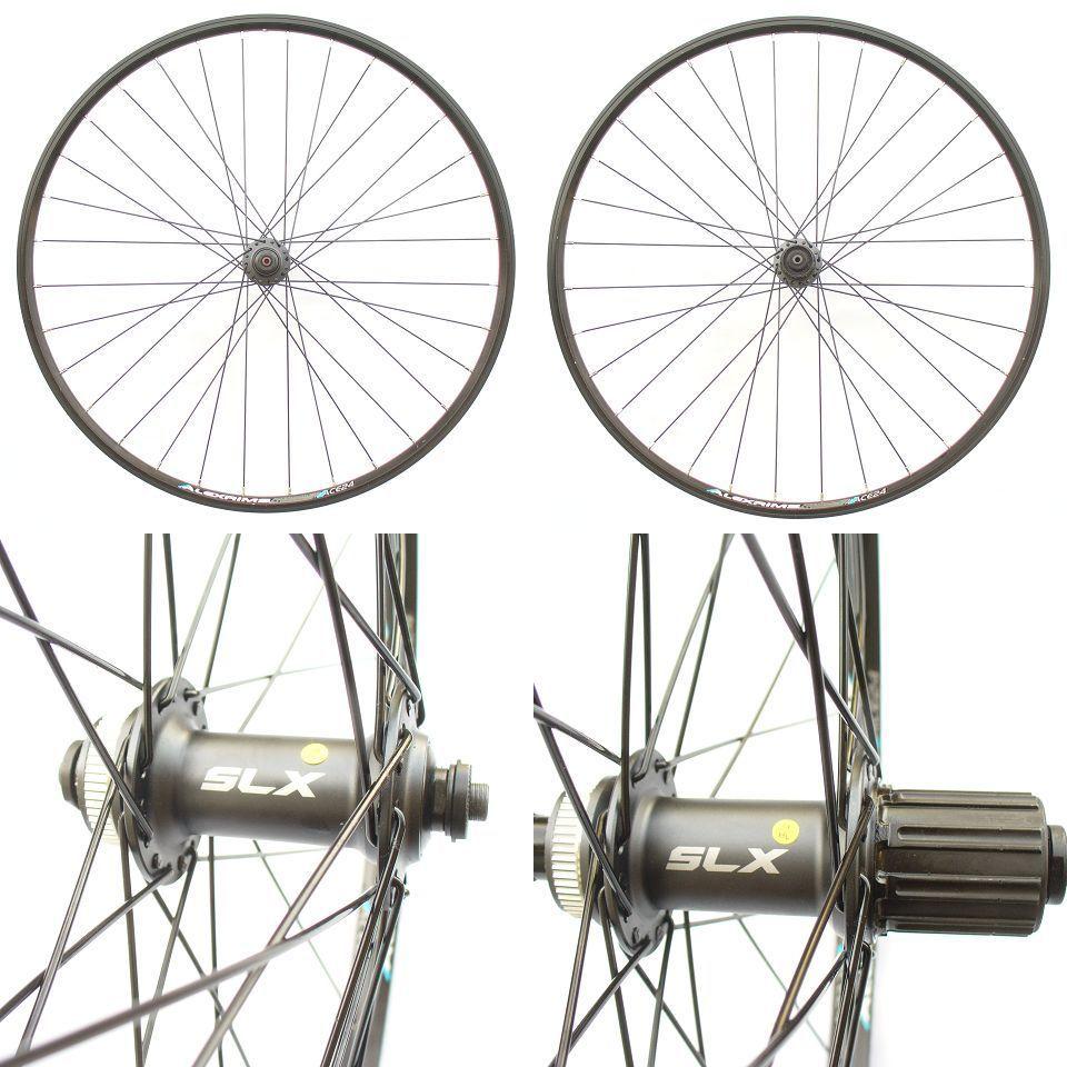 26 Shimano Slx Alexrims Ace24 Mtb Mountain Bike Wheels Pair
