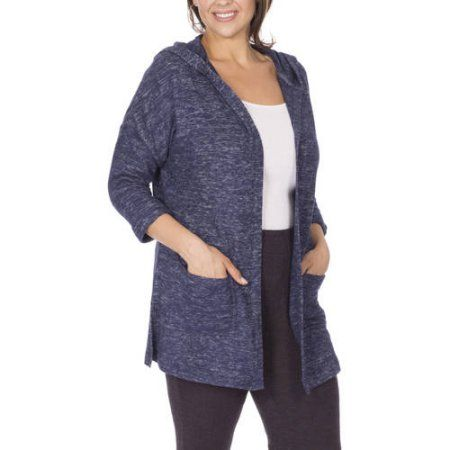 Moda Women's Next Generation Textured Hooded Cardigan, Size ...