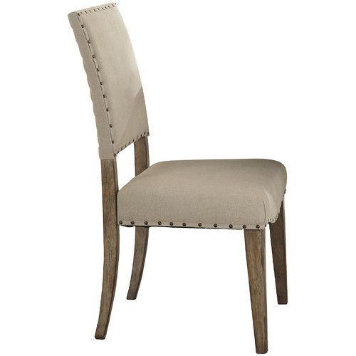 Shop Joss Main For Your Camille Side Chair The Weatherford Dining Collection Strikes That Balance With Brownstone Caramel Finish And Concrete