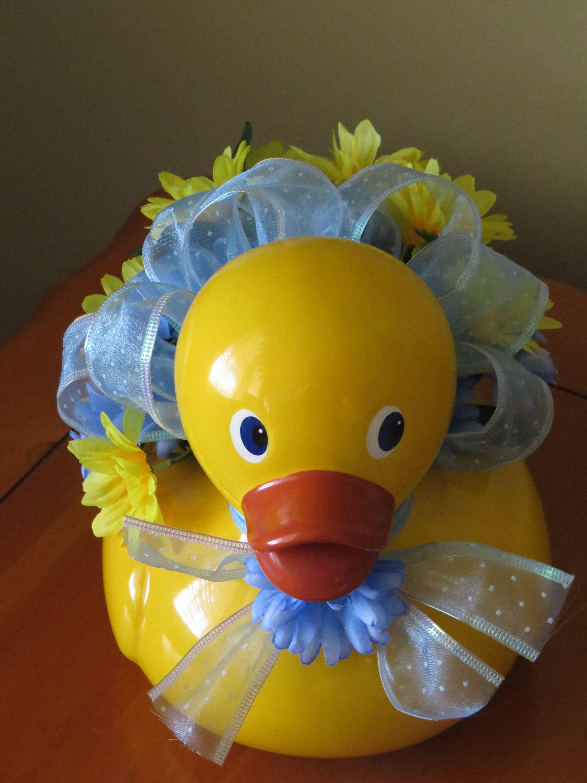 duck decoration baby boy shower duck centerpiece baby boy