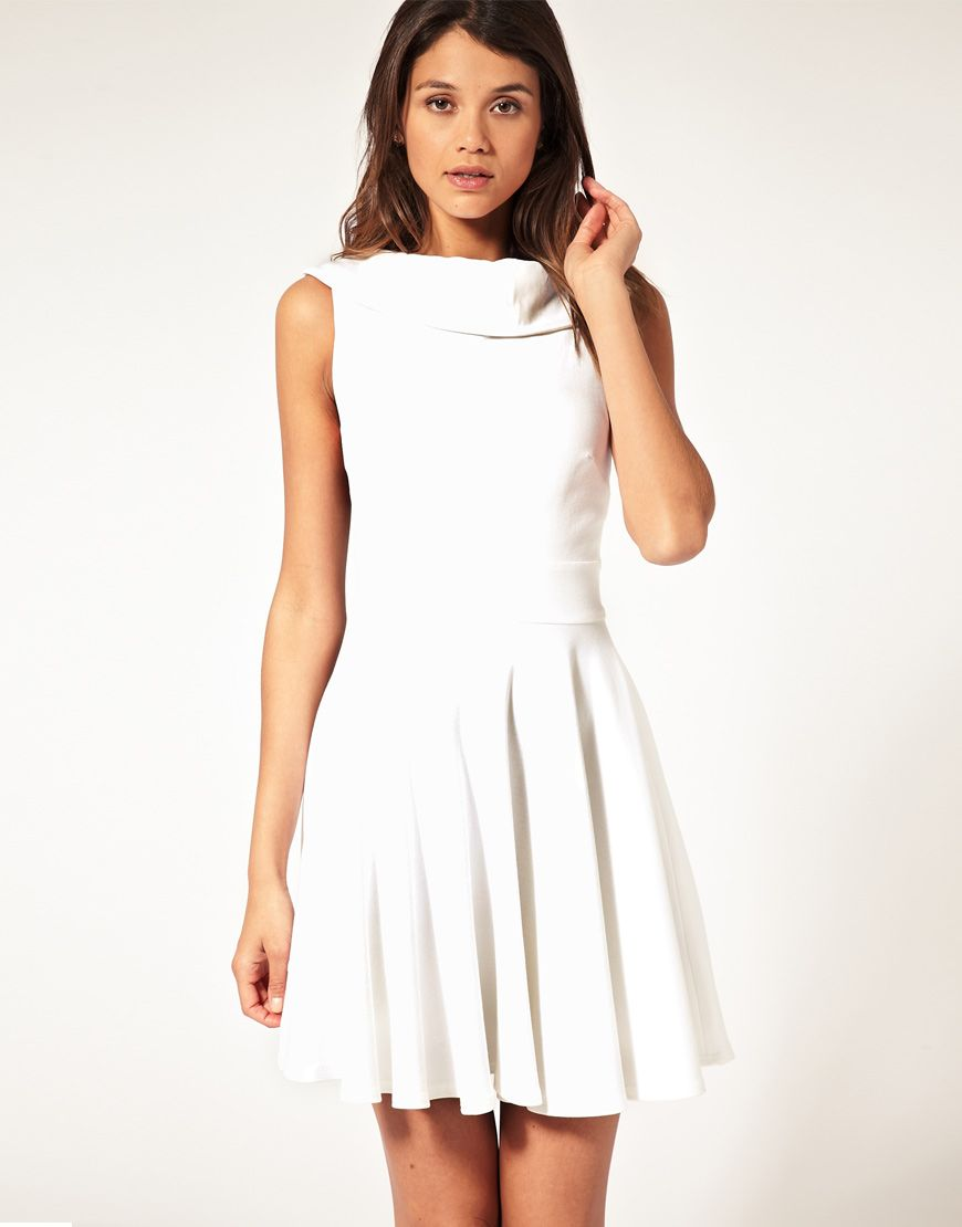 ASOS Ponti Fit and Flare Dress with Boat Neck $72.72 - Super cute!
