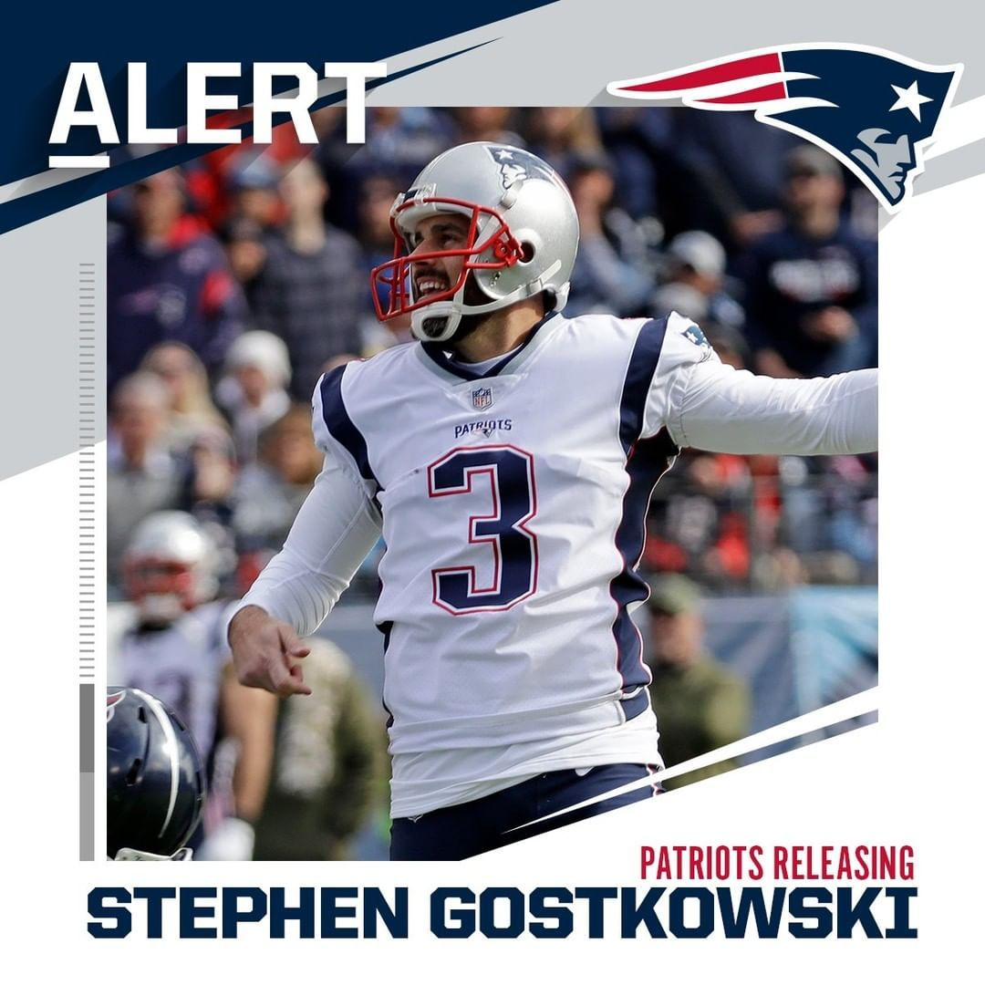 Patriots Releasing Kicker Stephen Gostkowski Via Rapsheet In 2020 Patriots Football Helmets Football